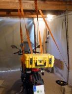 Wichtig: Sicherung des Motorrads gegen Umfallen!