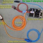 Type 2 socket, setup for charging