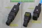 Doppelnutzen des Schuko-Kabels (für internen Lader und für Schnell-Lader)