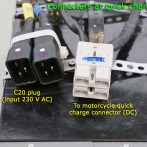Connections on quick charger from Evtricity