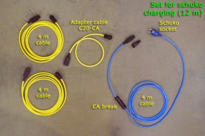 Set for schuko charging (12 m)