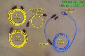 Set for schuko charging (12 m)
