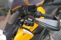 VIRB 360 camera mounted on holder at handlebar