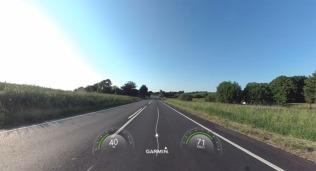 """Die letzten 70 km bis zur Unterkunft waren Landstraße, endlich mal nicht Windschatten- sondern """"richtig"""" Motorrad-Fahren."""