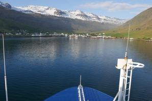 Ankunft in Seydisfjördur, Island / Arrival at Seydisfjördur, Iceland