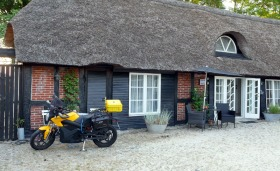 My nice accomodation in Tjele (Farm61) and the bike is already connected to a plug.